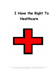 Red cross represents Health