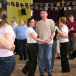 Couple dancing at a disco