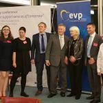 Sarah Jane with David Dean and MEP Marian Harkin